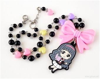 Cardcaptor Sakura Tomoyo Pastel Goth Necklace, Magical Girl, Harajuku Fashion, Kawaii Jewelry, Decora