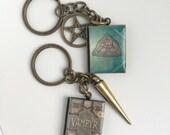 Book Locket Keychain Collection