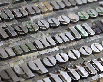 YOU PICK - 48pt Metal Letterpress - Bold Italic Slanted Block