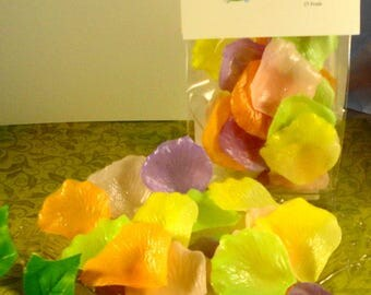Spring Bouquet Petal Soaps -Individual Rose Petal Soaps - Glycerin Soaps - Wedding Favor - Guest Soap - SoapGarden