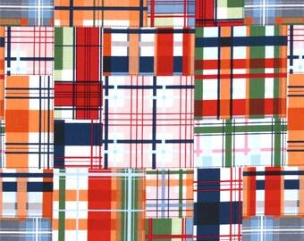 Michael Miller Going Coastal Fabric, Patchwork Plaid Fabric, Madras Plaid Fabric, Quilting Fabric, Cotton Fabric, Summer Prints, Nautical