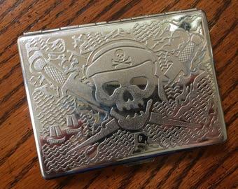 Pirate Cigarette Case / Business Card Holder