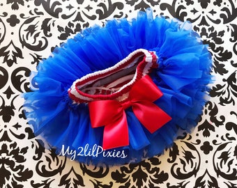 4th of JULY TUTU Bloomers, ruffles all the way around , front and back ruffles, BLOOMERS, baby bloomers, bloomer, tutu diaper cover