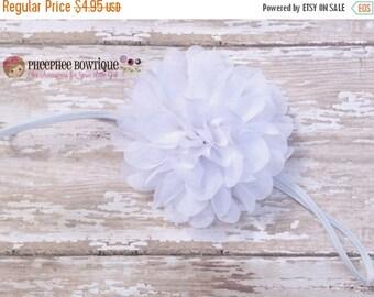 30% OFF SPRING SALE White Flower Headband, Emma Petal, Newborn Headband, Baby Headband, Infant Headband, Photo Prop, Flower Girls, Weddings,