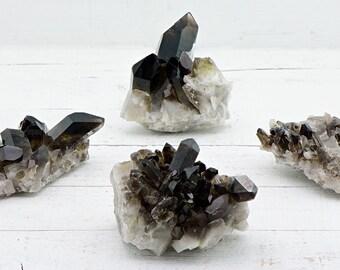 Smoky Quartz Gemstone Cluster - Stone of Power