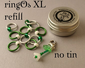 ringOs XL REFILL - Limited Edition Snowdrops - Ring Stitch Markers for Knitting