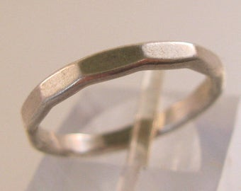 Vintage Sterling Silver Plain Band Ring Size 5.5 Jewelry Jewellery