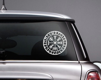 Vegvisir Rune Circle Viking Norse Mythology Vinyl CAR DECAL Pagan Asatru Runic Compass