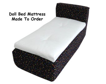 Doll Bed Mattress - Made To Order - for American Girl Bed Barbie Bed or even Teddy Bear Bed - Photo Prop