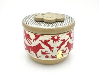 French butter crock - ceramic butter jar - butter keeper - wedding gift - butter holder - unique ceramic gift - wedding gift