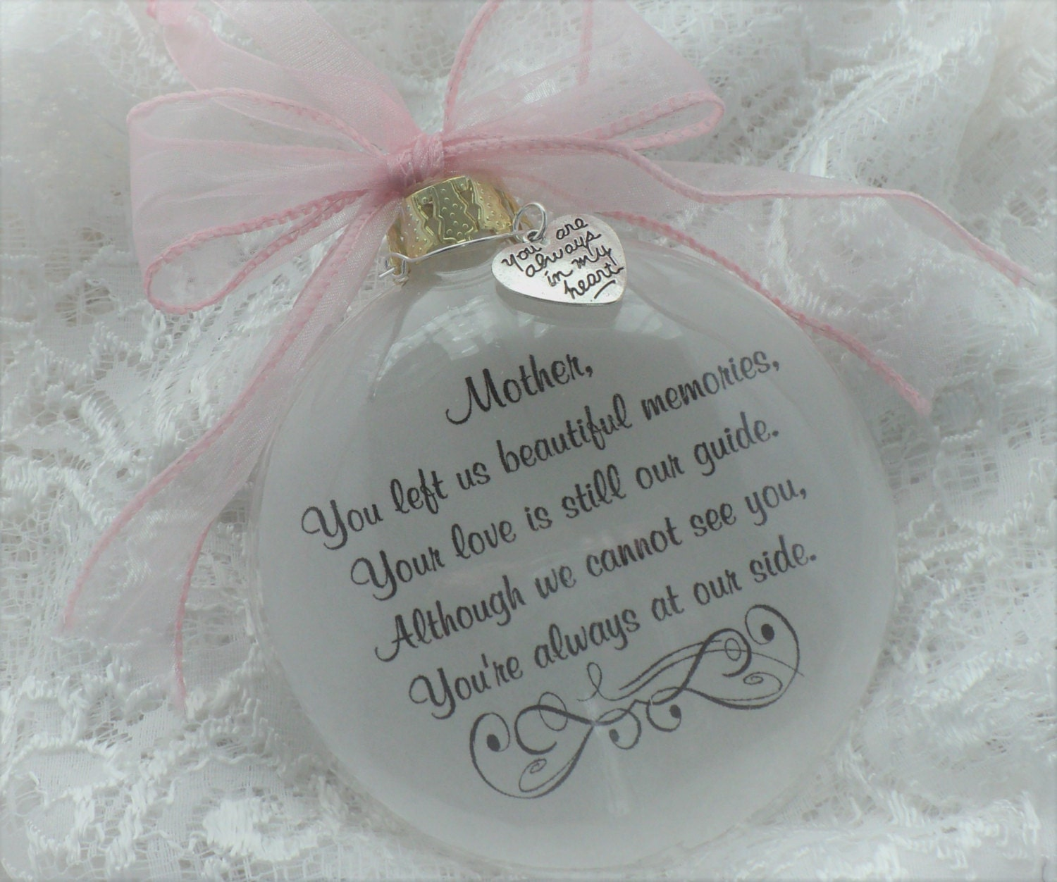In memory of ornaments - In Memory Memorial Ornament Mom You Left Us Beautiful Memories Free Personalization And Charm