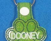 Personalized Dog Paw key fob / charm / Collar hanger