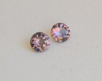 Pink Spinel Rounds, Grey Pink Spinel, Tanzanian Spinel Rounds, 5mm Spinel Rounds, Pink Gemstones, Rose Colored Gems