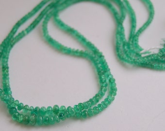 Emerald Beads, Colombian Emerald Rondelles, Emerald Rondelles, 3-5mm Emerald Beads, Natural Emerald Beads