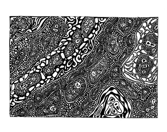 Bloodstream Pen & Ink