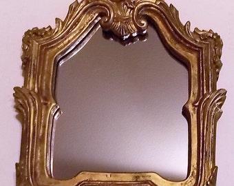 Gold Framed Mirror, Ornate, Fleur De Lis Style, Vintage, Victorian Look, French Country, Fancy Mirror, Retro Decor, Antique Look Mirror