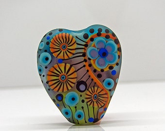 Michou Pascale Anderson -  *Just a happy Day*  - 1 lampwork Focal bead