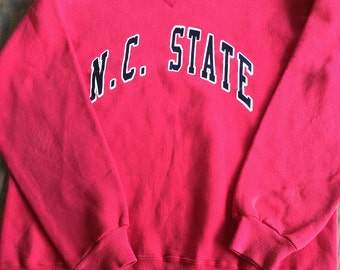 Vintage NC State Sweatshirt, North Carolina State Wolfpack, Russell Athletic, Made in USA, Oversize Sweatshirt, Cozy Sweatshirt