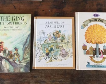 Lot of Three Jay WIlliams, Parents Magazine Press, 70s Children's Books, Cookie  Tree, A Bag Full of Nothing, The King with Six Friends,