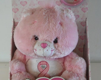 Care Bears Pink Power Bear Plush Limited Edition Breast Cancer in Box