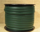 5mm Regaliz Premier Flat Leather - Forest Green - P5-11 - Choose Your Length