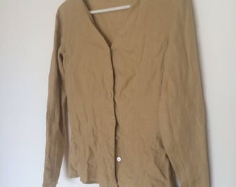 Vintage 90s gap linen button down shirt xs