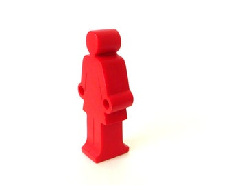 Paperweight - Art - Pen Holder - Pencil Holder - Red Woman - Stick Figure - Restroom Attendant - 3D - Modern - Whimsical - Skirted Woman
