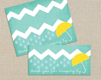 Rain and Showers Baby Shower - Thank you for dropping by - Bag Topper - Umbrella Sprinkle Digital Printable File