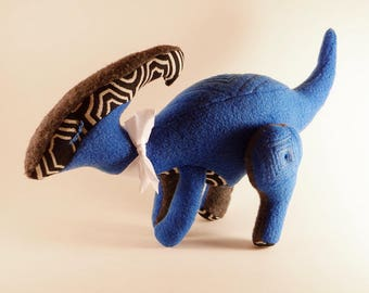 Purdysaurolophus - Deco - OOAK Dinosaur Plush