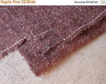 SALE SALE SALE Vintage Fabric Wool Brick Brown Sewing Supplies