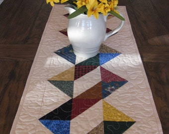 Half Square Triangles Table Runner