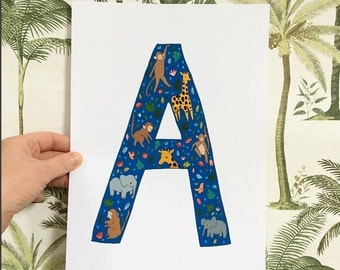 Custom Letter / Animal Alphabet Illustration