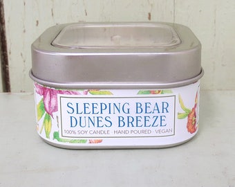 Sleeping Bear Dunes Breeze 8 oz. Soy Candle - Green Daffodil Soy Candleworks - Handpoured - Siouxsan and Anne - C8