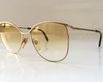 80s Vintage German Rodenstock Small Round Frame Sunglasses Small Head Size