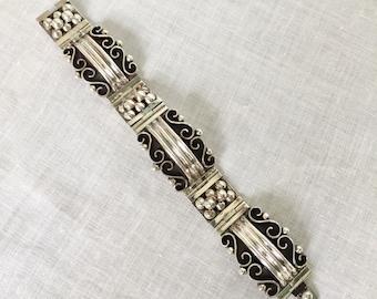 Vintage Sterling Silver Bracelet Mexico