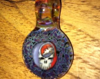 Grateful Dead Milli 3-D Glass Pendant necklace