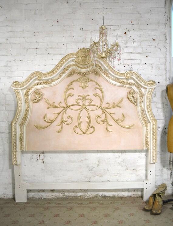 Francés de cama pintado Cottage Shabby Chic reina / rey /