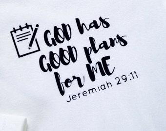 Jeremiah 29:11 Baby White bodysuit, God's promise, Good plans, Jeremiah 29 gift, bible verse, baby shower gift