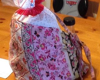 Reusable Shopping Bag, reusable grocery bag, lightweight shopping bag- Lightweight Vintage Print