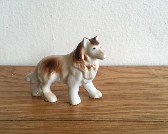Vintage Ceramic Collie Dog Japan