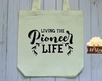 Tote Bag/Living the Pioneer Life/JW Gift/JW Pioneer/Pioneer Gift/Book Bag