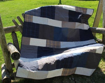 At the lake quilted lap quilt