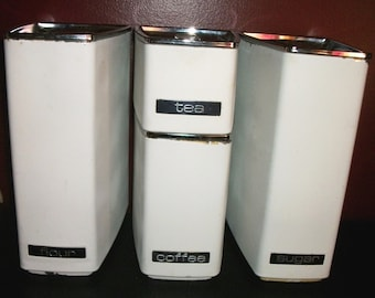 Vintage Mid Century Lincoln Beautyware Canisters