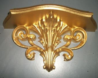 Vintage Gold Wall Accent Shelf