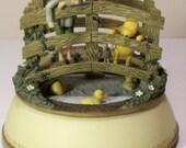 Rare Classic Vintage Winnie The Pooh Music Box Christopher Robin Bridge  Disney Free Shipping