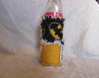 Batman Inspired 10oz Baby Bottle Cover Holder Cozie Baby Bottle  Cozy Gift for Baby Baby Shower Gift