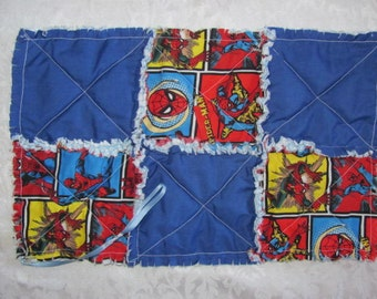Spiderman Inspired Pacifier Clip Pacifier/Pacifier Clip/ Holder/Burp Cloth Snuggle blankie Rag Quilted For Baby