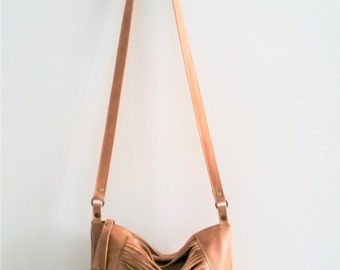 Camel leather bag, Every day purse , Cross-body bag