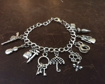 Sherlock Holmes Inspired Charm Bracelet
