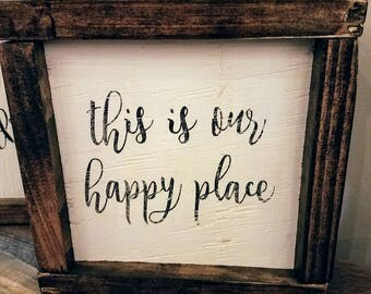 This is Our Happy Place Framed Mini Sign